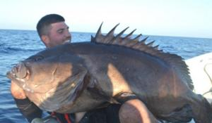 Χανιά: Έπιασε αυτό το ψάρι στα 190 μέτρα – Ο τυχερός ψαράς χώρεσε με δυσκολία στην ίδια φωτογραφία [pics]