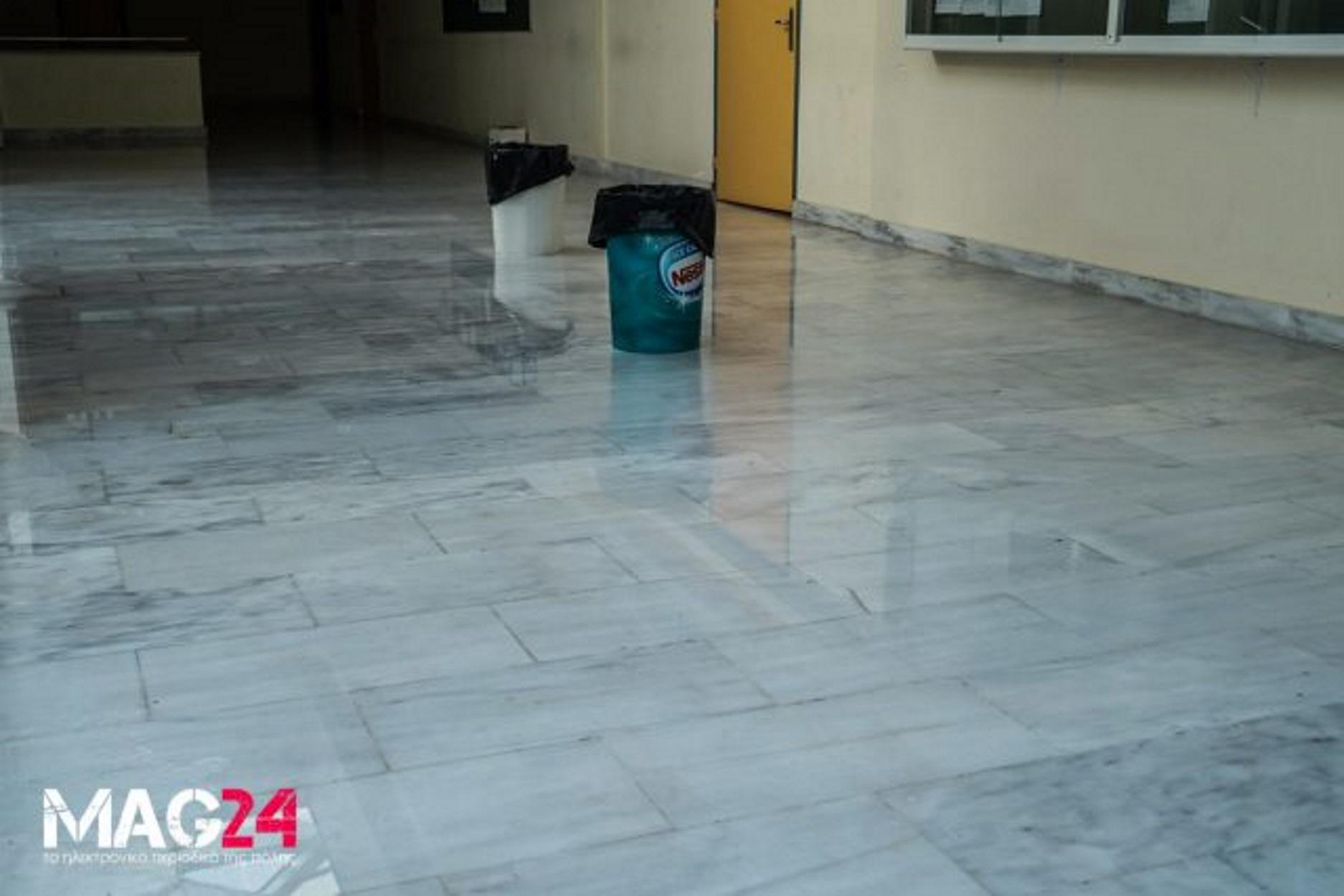 Πλημμύρισε το πανεπιστήμιο Θεσσαλίας στη Λαμία! Τριτοκοσμικές εικόνες! [pics, video]