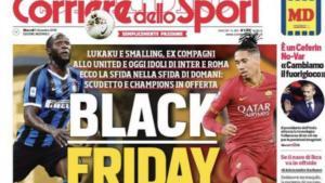 """Απαράδεκτο πρωτοσέλιδο στην Ιταλία με Λουκάκου – Σμόλινγκ! """"Black Friday"""""""