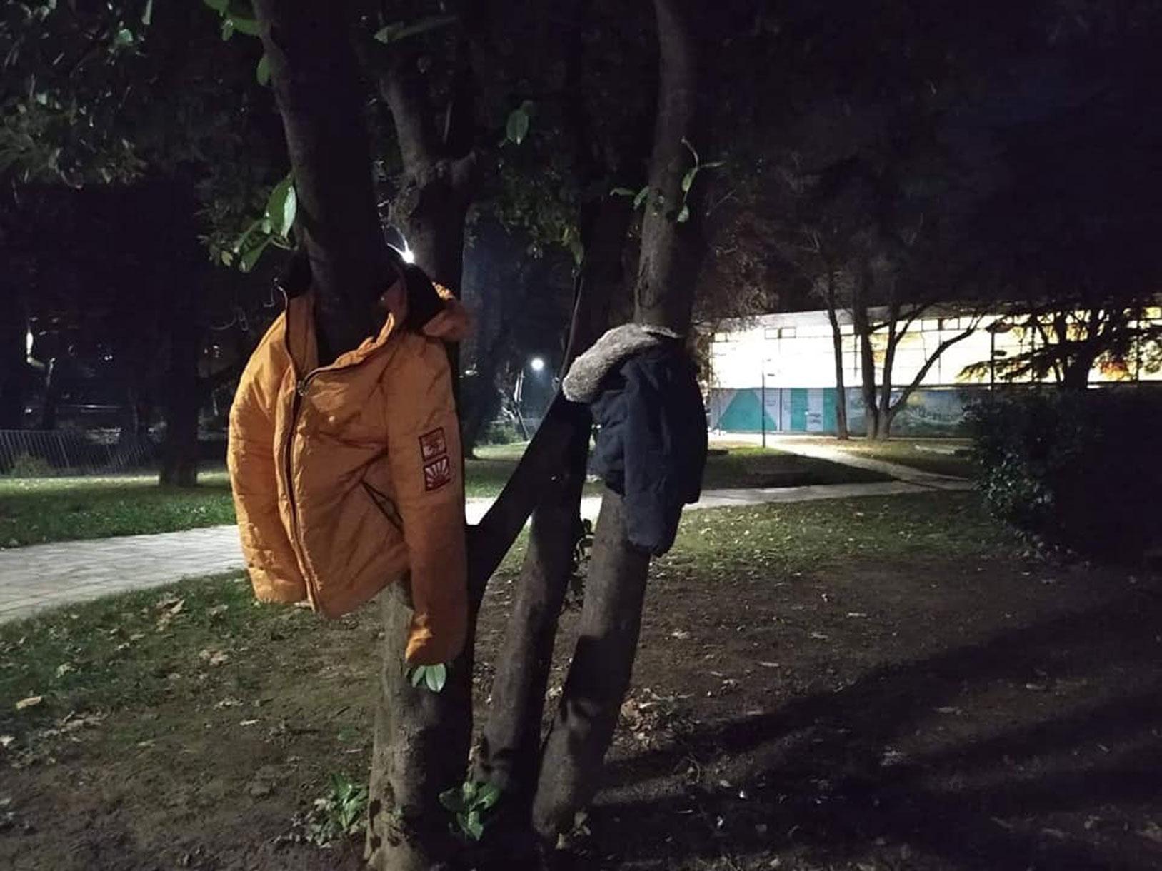 Έδεσσα: «Στολίζουν» δέντρα με μπουφάν για να μην είναι «κανείς μόνος στο κρύο» [pics]