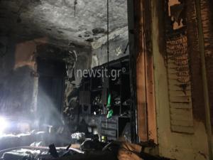 Φωτιά σε διαμέρισμα 1ου ορόφου στην Πλάκα