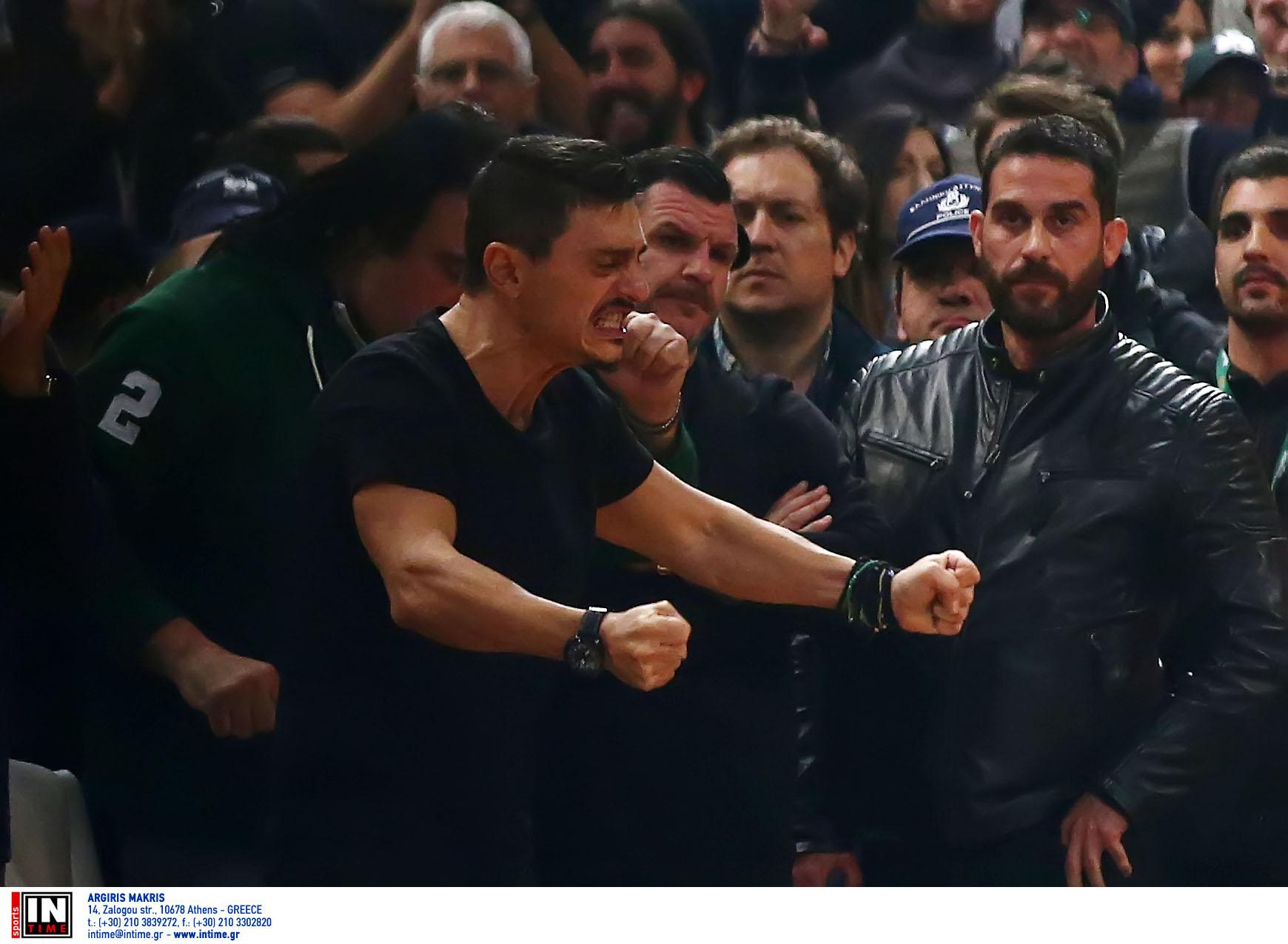 """Παναθηναϊκός: """"Τρελάθηκε"""" ο Γιαννακόπουλος! Πανηγύρισε έξαλλα με Ράις (pics)"""