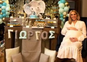 Μαντώ Γαστεράτου: Δείτε φωτογραφίες από το εντυπωσιακό baby shower που έκανε λίγο πριν γεννήσει! [pics]
