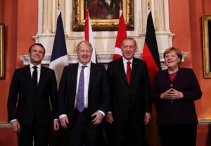 """Συνάντηση Ερντογάν, Μέρκελ, Μακρόν και Τζόνσον με """"μενού"""" την Συρία"""