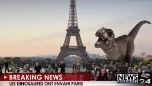 «Εισβολή» δεινοσαύρων στο Παρίσι!