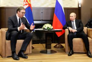 Για Κόσοβο και συνεργασία στα Βαλκάνια συζήτησαν Πούτιν και Βούτσιτς