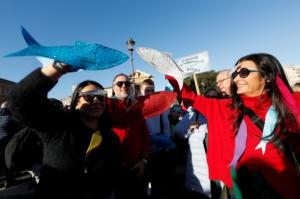 """Ιταλία: Διαδηλώνει ξανά το """"κίνημα της σαρδέλας"""""""