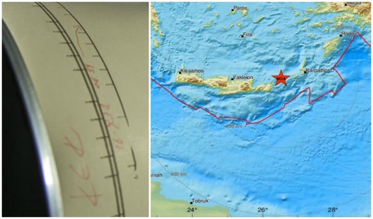 """Ισχυρός σεισμός στην Κρήτη! 5,5 Ρίχτερ """"ταρακούνησαν"""" το νησί!"""