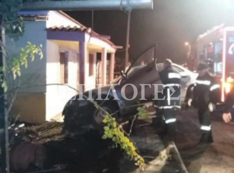 Σέρρες: Αυτοκίνητο παραλίγο να γκρεμίσει μονοκατοικία! Δύο τραυματίες και νέες εικόνες μετά το τροχαίο [video]