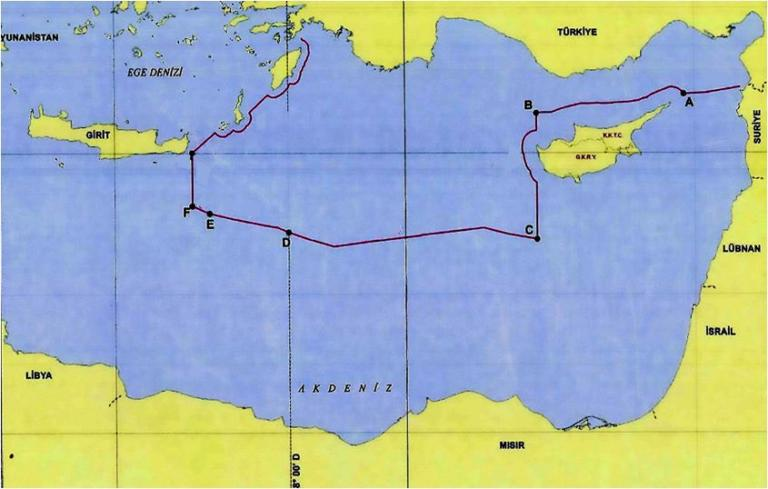 """Η Τουρκία """"αποκαλύπτει"""" με προκλητικό χάρτη τις φαντασιώσεις της στην Μεσόγειο! [pics]"""