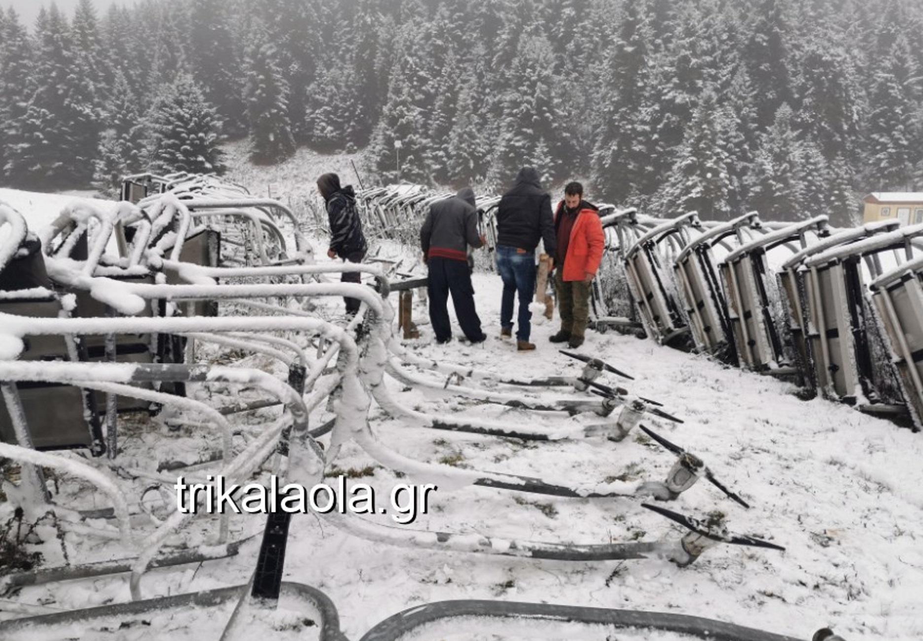 Τρίκαλα: Χιονοπόλεμος και δρόμοι παγοδρόμια! Ο χειμώνας έφερε αυτές τις εικόνες [video]