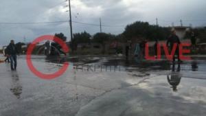 Ηράκλειο: Αγροτικό αυτοκίνητο έπεσε σε βενζινάδικο και παρέσυρε υπάλληλο! Τρεις τραυματίες, ο ένας σοβαρά