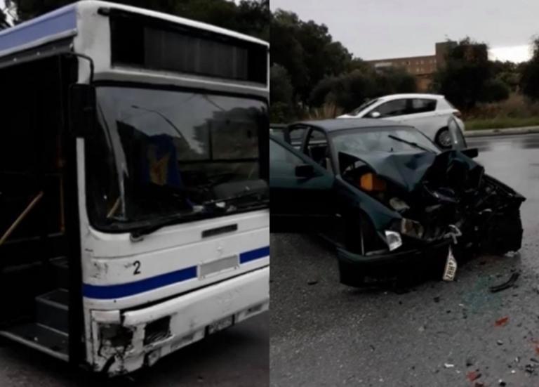Ρόδος: Σφοδρή σύγκρουση Ι.Χ. με λεωφορείο! Στο νοσοκομείο δύο άτομα