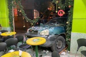 Θεσσαλονίκη: Αυτοκίνητο χωρίς οδηγό μπήκε σε μπουγατσάδικο που ήταν ανοιχτό μετά από τρελή καταδίωξη [pics, video]