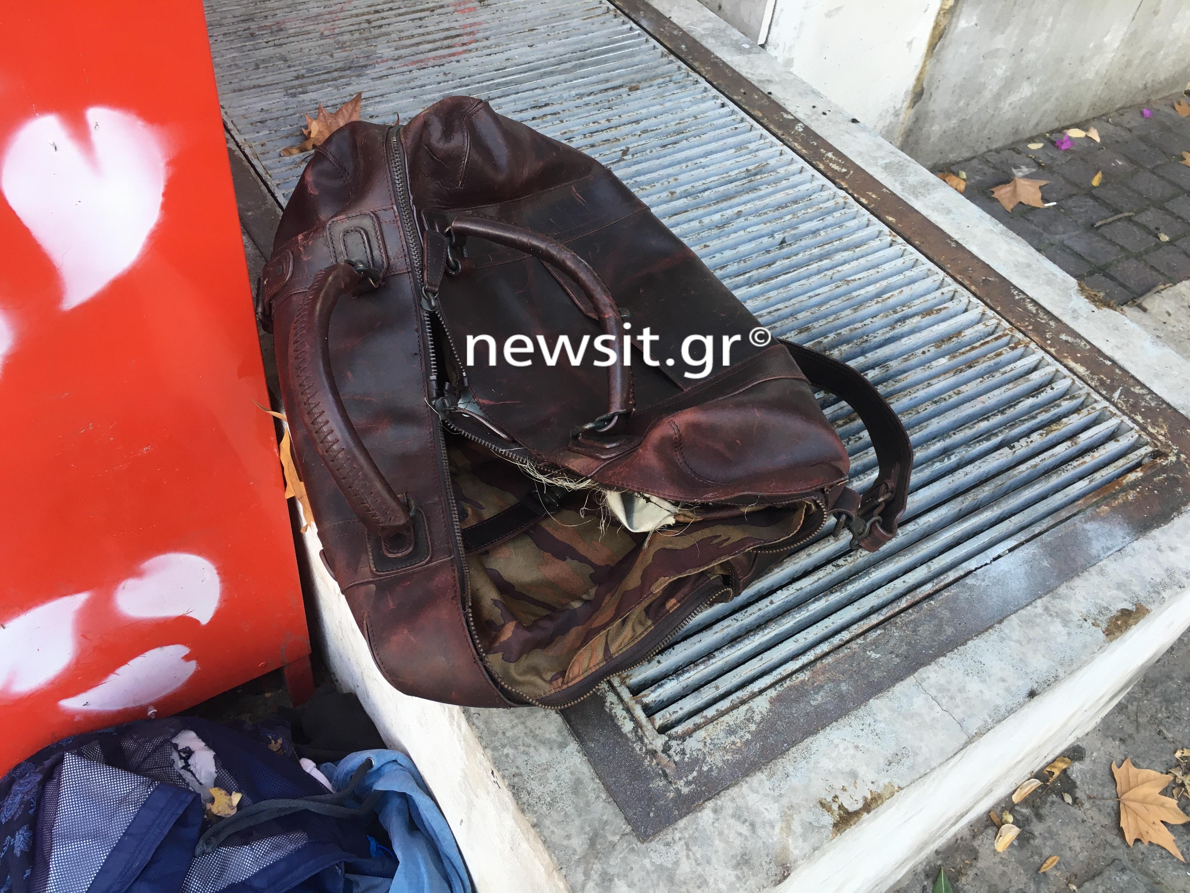 Μια βαλίτσα με ρούχα προκάλεσε πανικό στο Κολωνάκι [Pics]