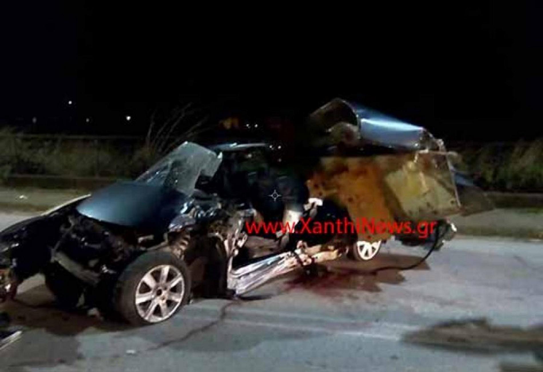 Ξάνθη: Σκοτώθηκαν δύο νεαρά αδέρφια σε φοβερό τροχαίο! Αυτοψία στο σημείο του δυστυχήματος [pics]