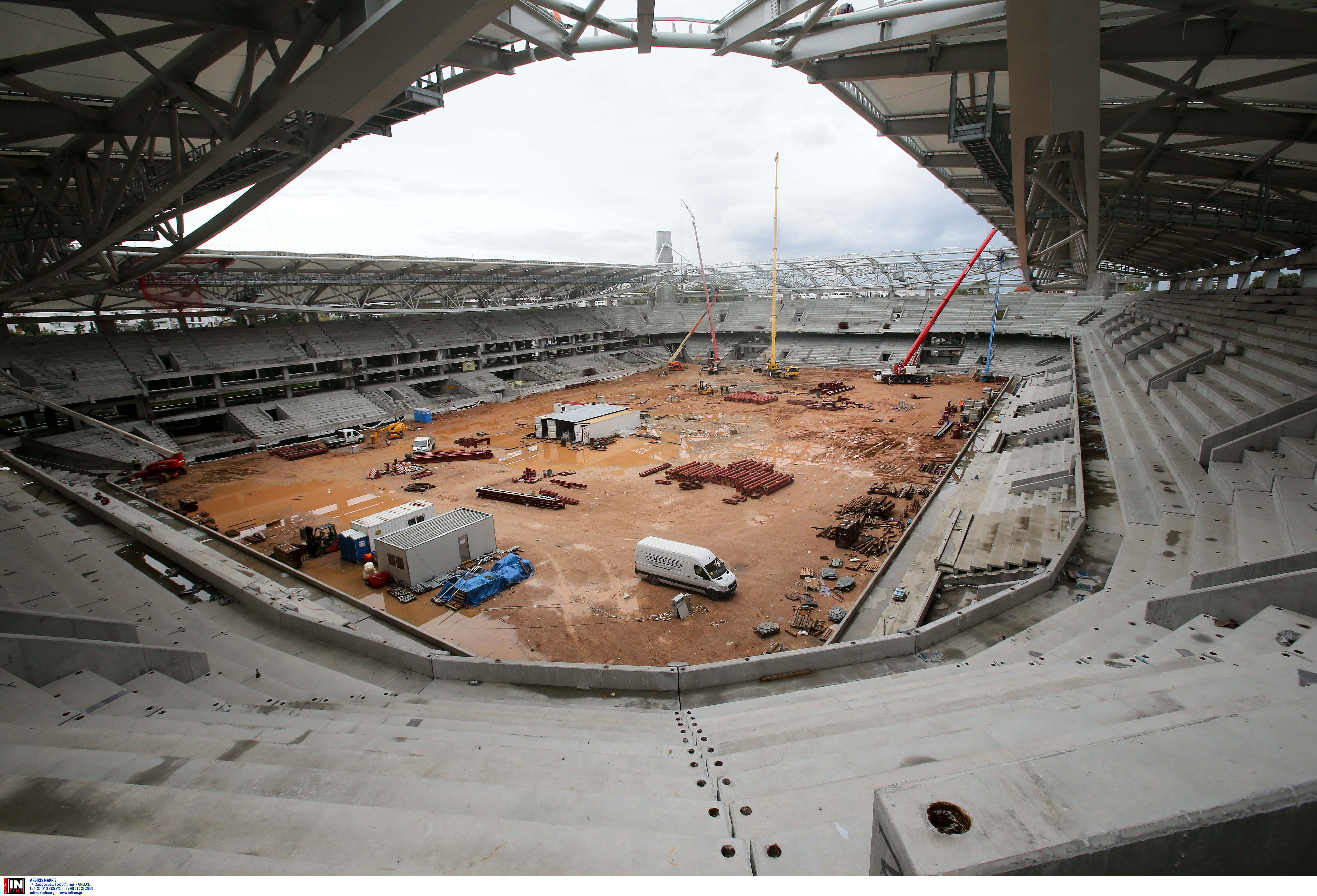 Πιο κοντά στην ολοκλήρωση το γήπεδο της ΑΕΚ – Εγκρίθηκε η ανάθεση για τις εσωτερικές εργασίες