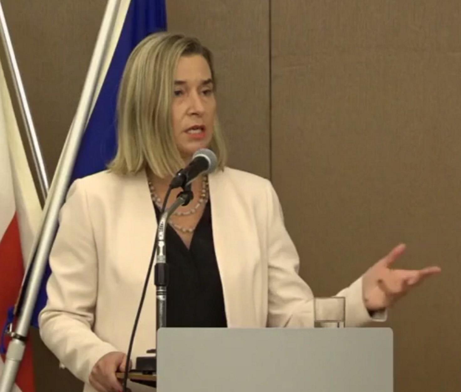 Φεντερίκα Μογκερίνι: Η Ε.Ε. οφείλει να προστατεύσει το έδαφος των κρατών μελών της
