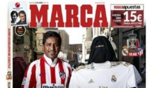 Σάλος με το πρωτοσέλιδο της MARCA ενόψει Σούπερ Καπ! Γυναίκα με μπούργκα και φανέλα της Ρεάλ [pic]
