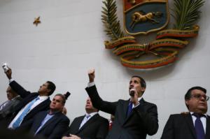 Γκουαϊδό: Ορκίστηκε Πρόεδρος της Βουλής μετ' εμποδίων από το καθεστώς Μαδούρο