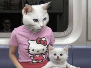 Το μετρό της Νέας Υόρκης γέμισε με… ανθρωπόμορφα ζώα! [Pics]
