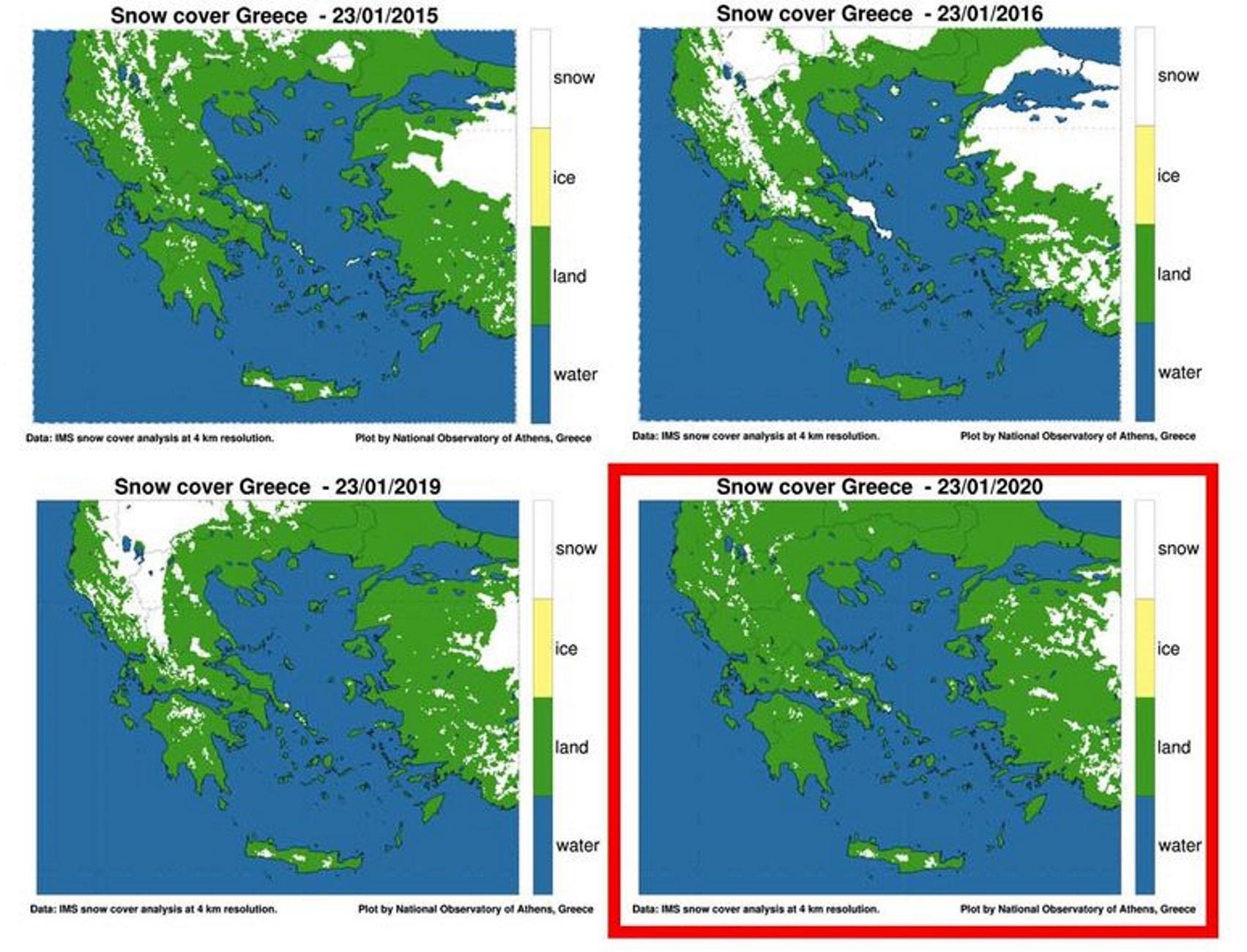 Καιρός: Προβληματίζουν οι δορυφορικές εικόνες πάνω από την Ελλάδα! Η σύγκριση της τελευταίας 15ετίας [pics]