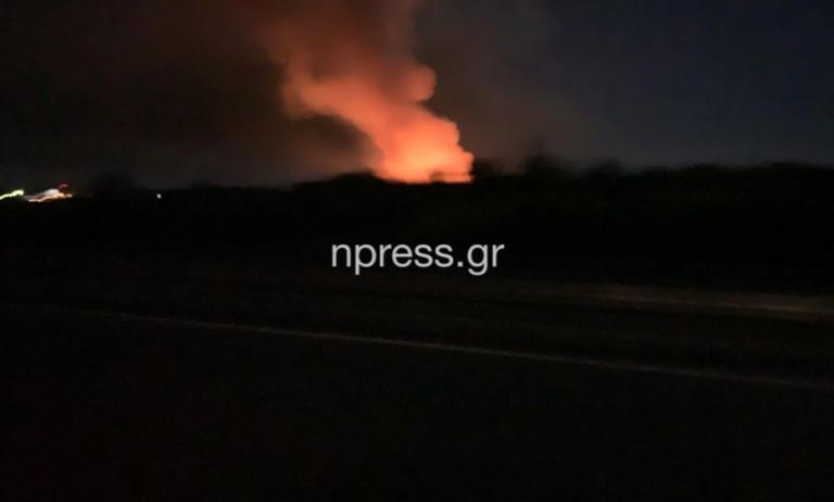 Κόρινθος: Μεγάλη φωτιά σε εργοστάσιο
