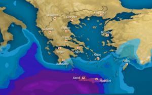 """Καιρός Αρναούτογλου: """"Προσοχή στις βροχές στην Κρήτη""""! video"""