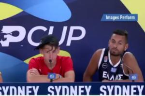 "ATP Cup: Με φανέλα της Εθνικής Ελλάδας ο Κύργιος! ""Τρόλαρε"" δημοσιογράφο για Ναδάλ (video)"