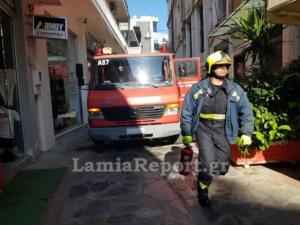Λαμία: Ευτυχώς που η φωτιά έσβησε μόνη της! Σκηνές απείρου κάλλους σε πεζόδρομο της πόλης [video]