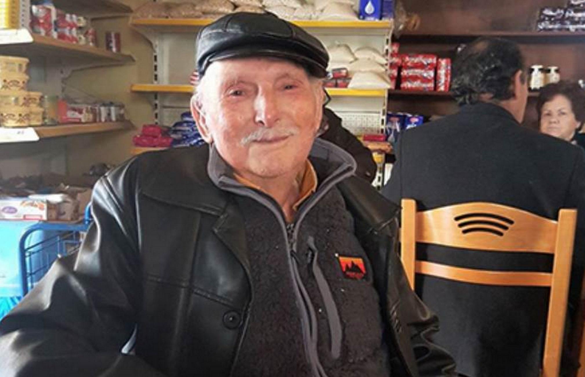 Κρήτη: Έκλεισε τα 100 και αποφάσισε να αποκαλύψει το μυστικό της μακροζωίας του! Ο παππούς που εντυπωσιάζει [pic]