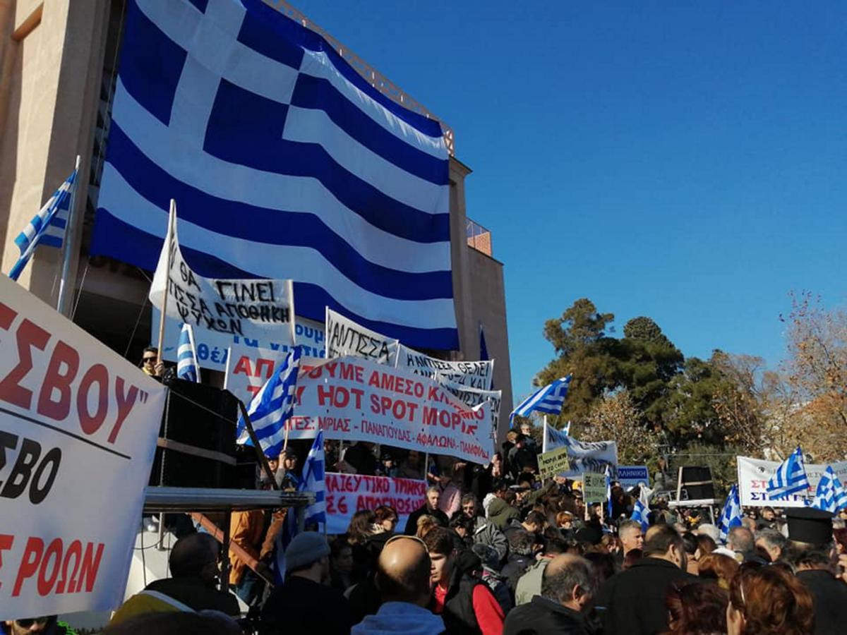 Προσφυγικό: «Βούλιαξαν» Χίος, Σάμος, Λέσβος από χιλιάδες κόσμου που διαμαρτύρονται! video 12