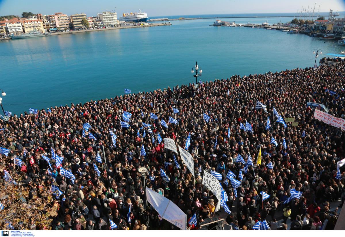 Προσφυγικό: «Βούλιαξαν» Χίος, Σάμος, Λέσβος από χιλιάδες κόσμου που διαμαρτύρονται! video 10