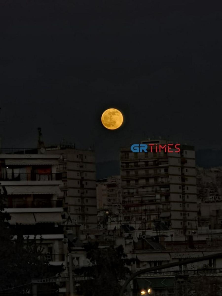 Πανσέληνος του λύκου: Απίστευτες εικόνες στην Θεσσαλονίκη!
