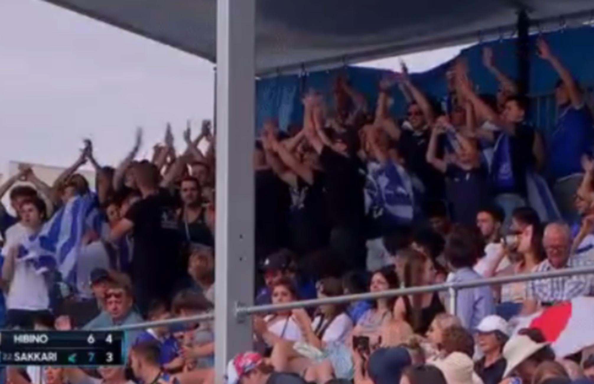 "Australian Open: Ξεσήκωσε τους Έλληνες η Σάκκαρη! ""Τρέλα"" από τους ομογενείς στην κερκίδα (videos)"
