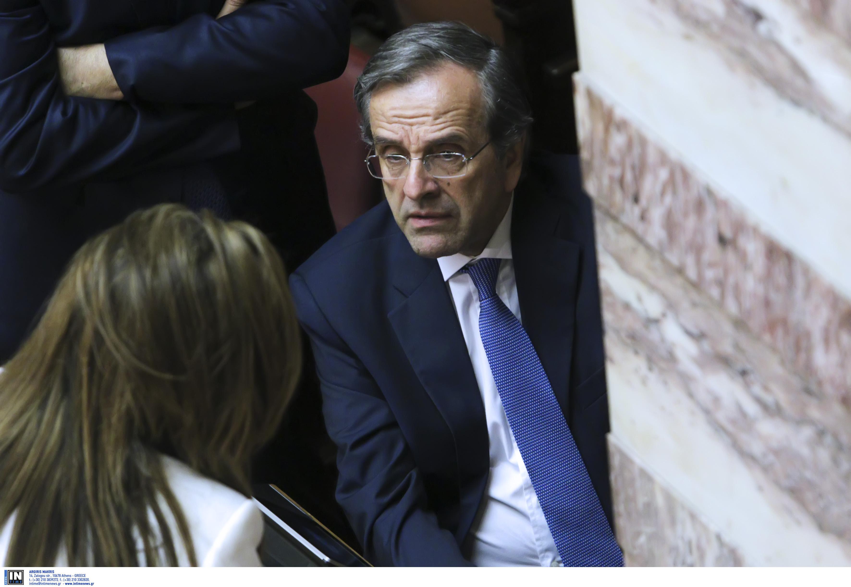 """ΣΥΡΙΖΑ για Novartis: Δυσαρέσκεια Σαμαρά για Μητσοτάκη και Χρυσοχοΐδη - """"Ελέγχει"""" και βουλευτές του ΚΙΝΑΛ"""