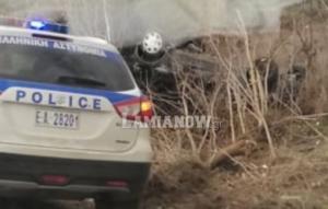 Λαμία: Ι.Χ. αυτοκίνητο έκανε τούμπες και κατέληξε στα χωράφια