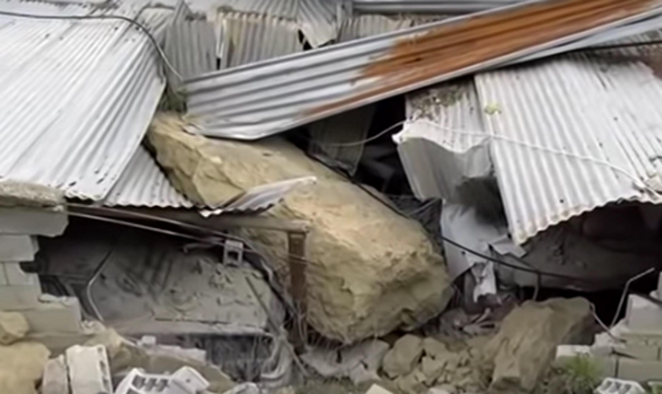 Ηράκλειο: Τεράστιος βράχος προκάλεσε ζημιές και πανικό! Η κηδεία που έσωσε την οικογένεια [video]