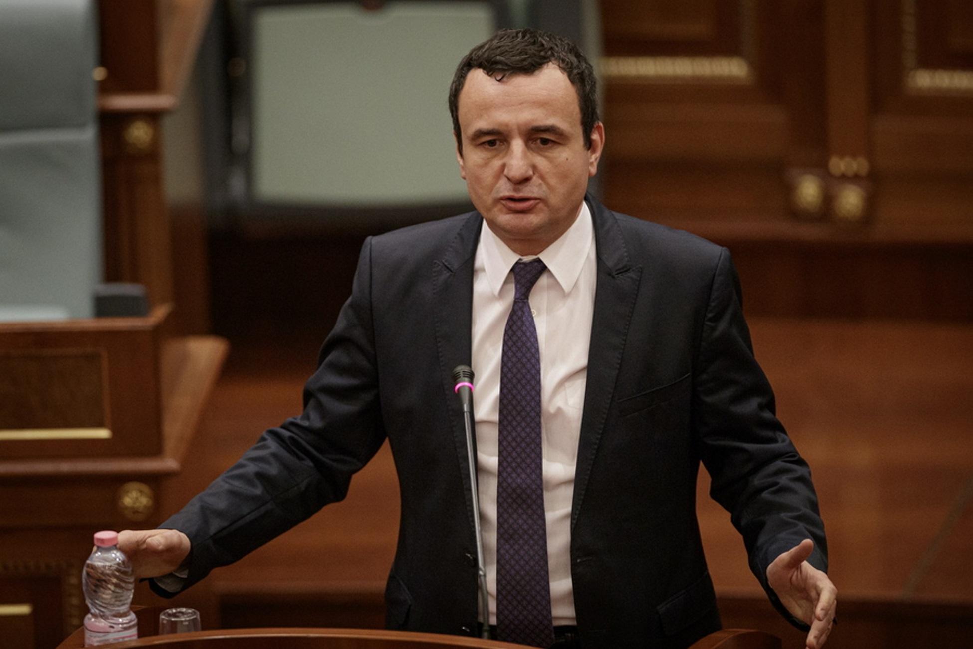 Κόσοβο: Σε αυτοαπομόνωση ο υπηρεσιακός πρωθυπουργός Αλμπίν Κούρτι