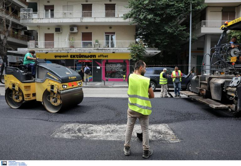 Σε αυτές τις κεντρικές λεωφόρους της Αθήνας γίνονται εργασίες διαγράμμισης