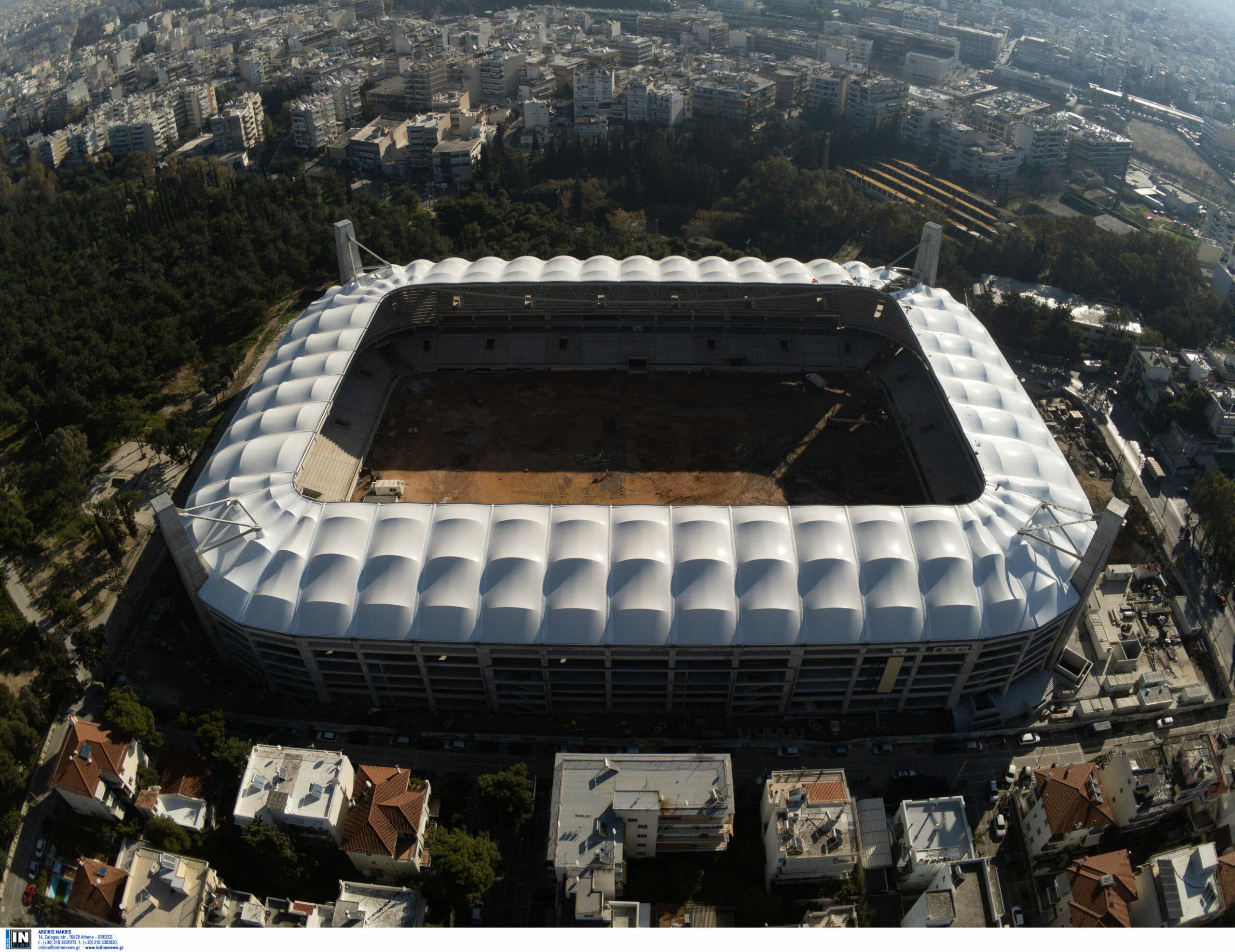 """Γήπεδο ΑΕΚ: Συγκλονιστικό video! Το σκέπαστρο της """"Αγιά Σοφιάς"""" μέσα από drone"""