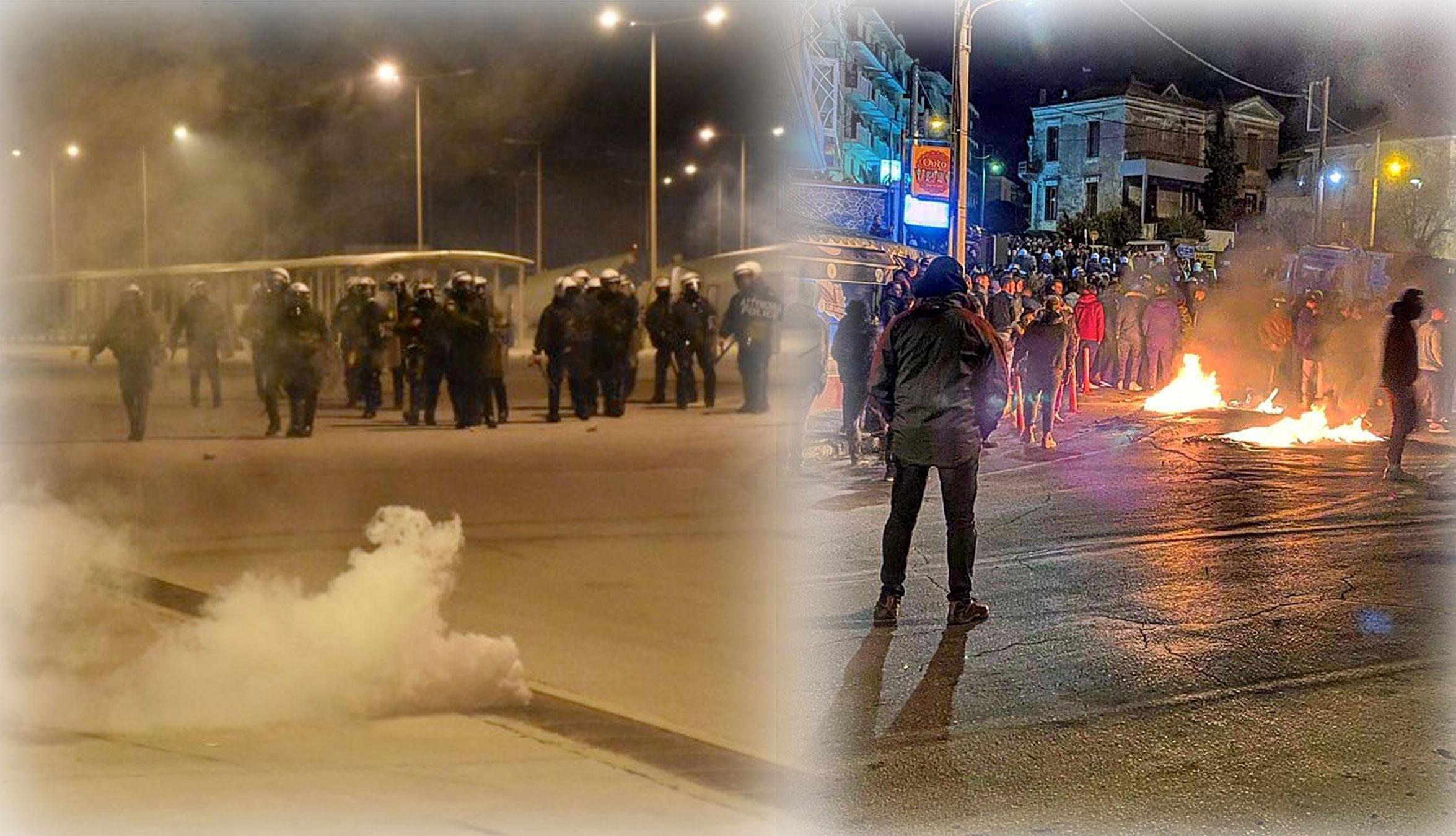 Μεταναστευτικό: Νύχτα κόλαση σε Μυτιλήνη και Χίο! Μάχες με τα ΜΑΤ στα λιμάνια