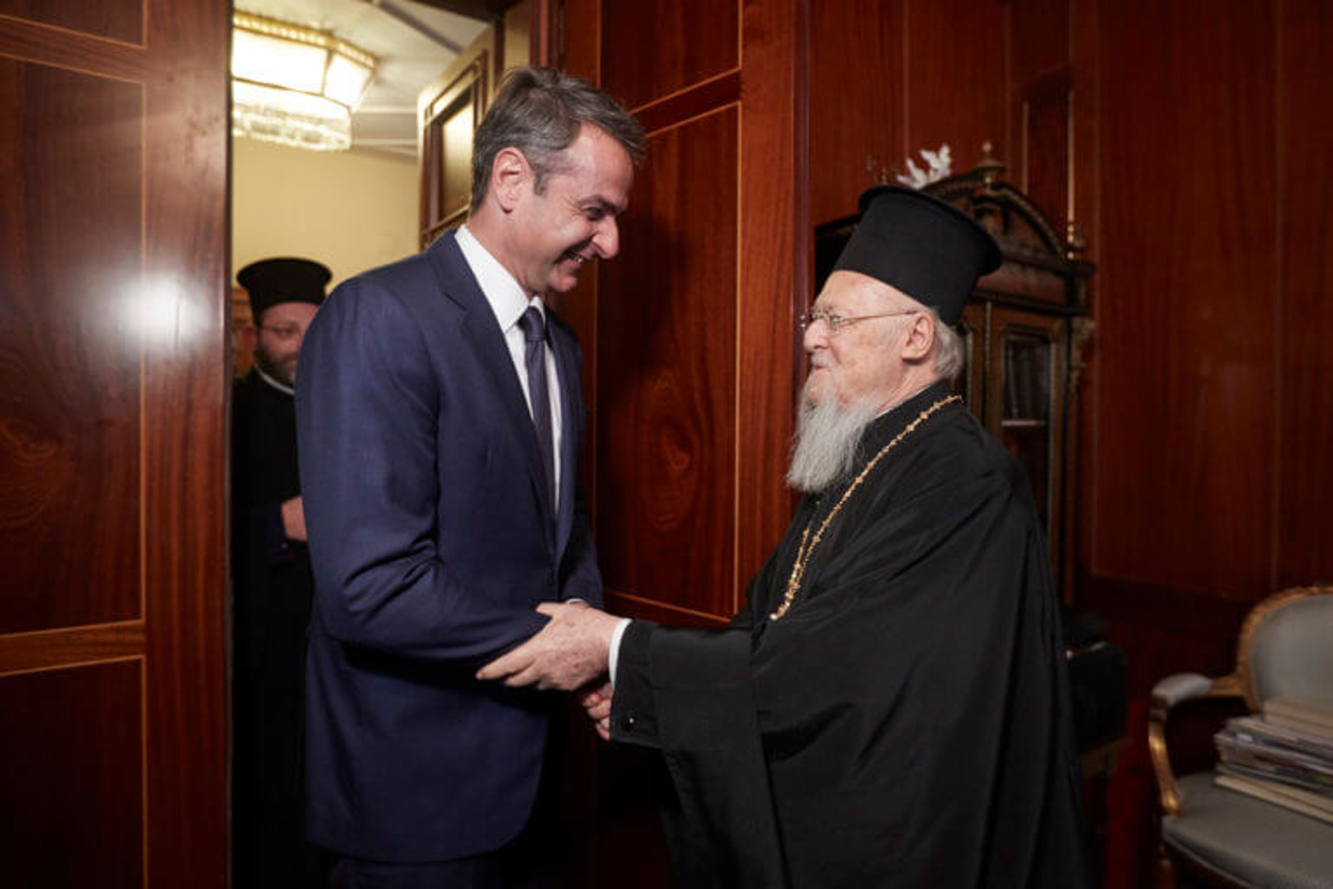 Επικοινωνία Μητσοτάκη με τον Πατριάρχη Βαρθολομαίο πριν τη συνάντηση με τον Πομπέο