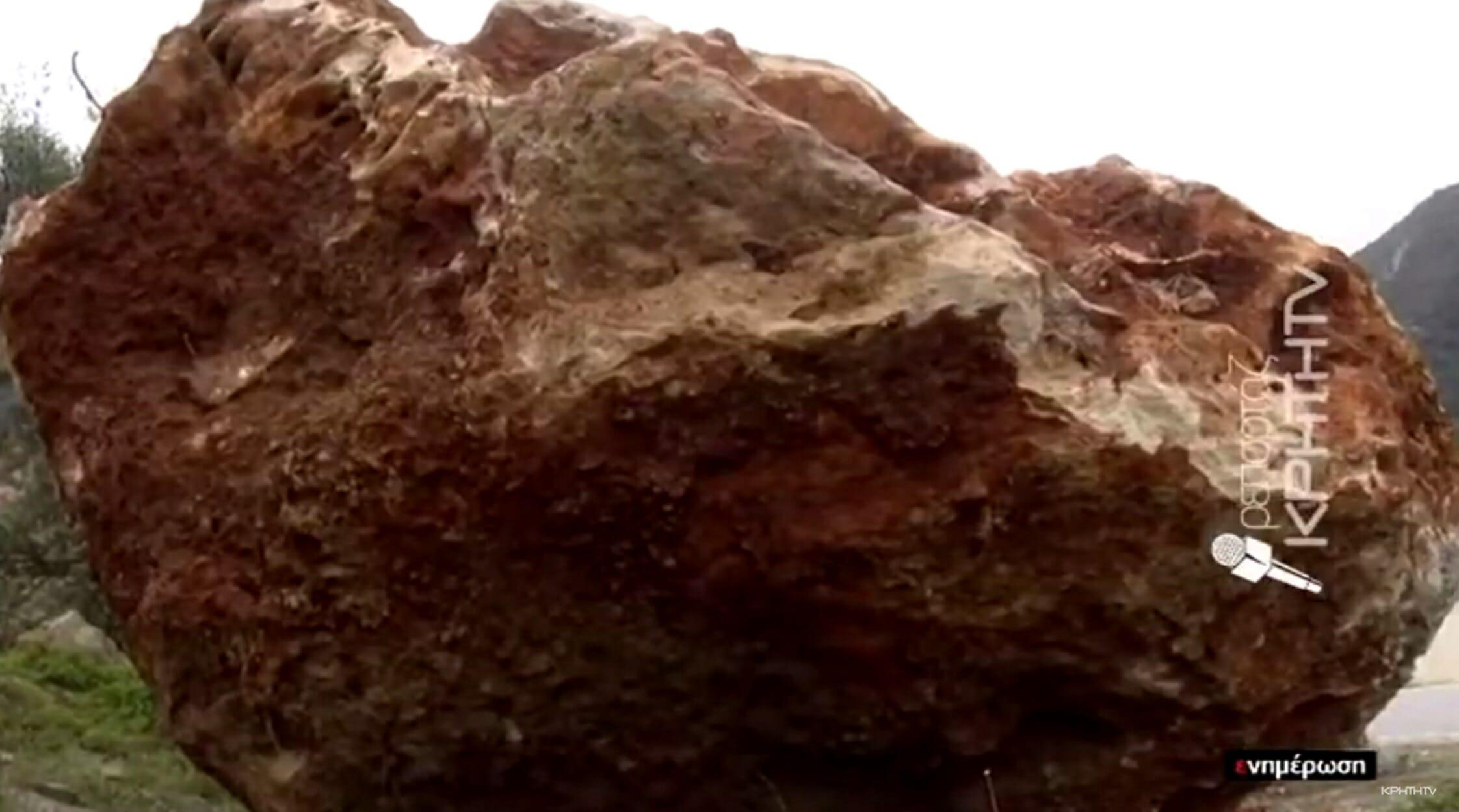 Τεράστιος βράχος αποκολλήθηκε σκορπώντας το φόβο και τον τρόμο! video