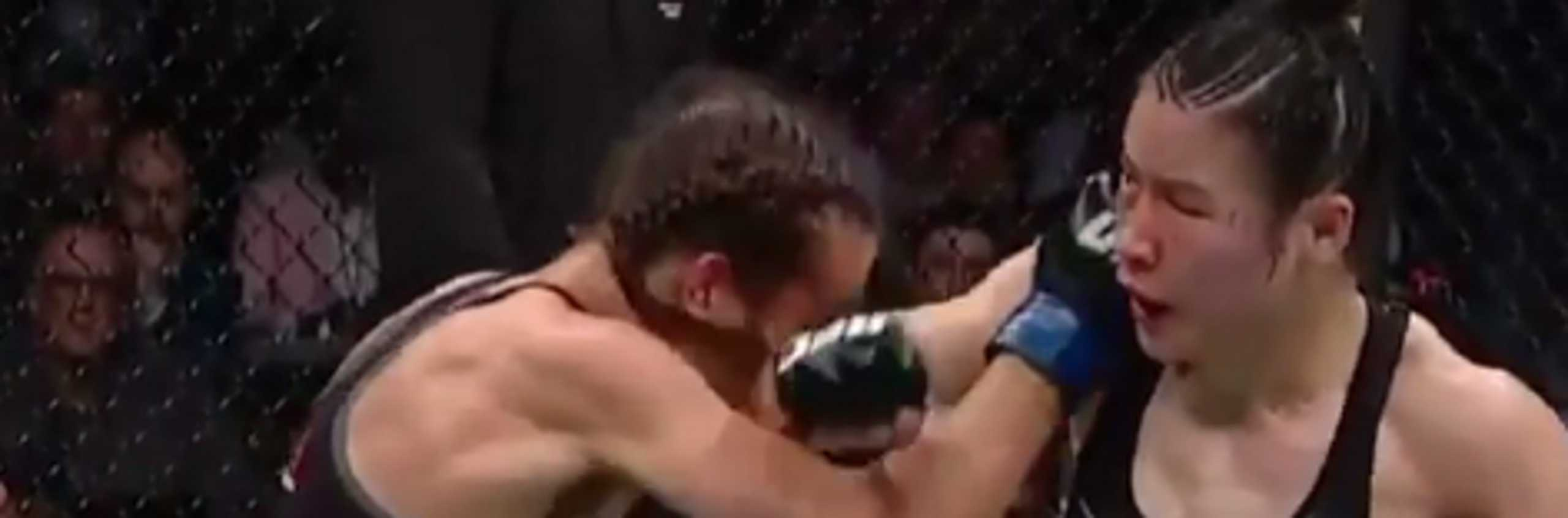Την έκανε… αγνώριστη! Βαρβαρότητες σε γυναικείο αγώνα του UFC! (video)
