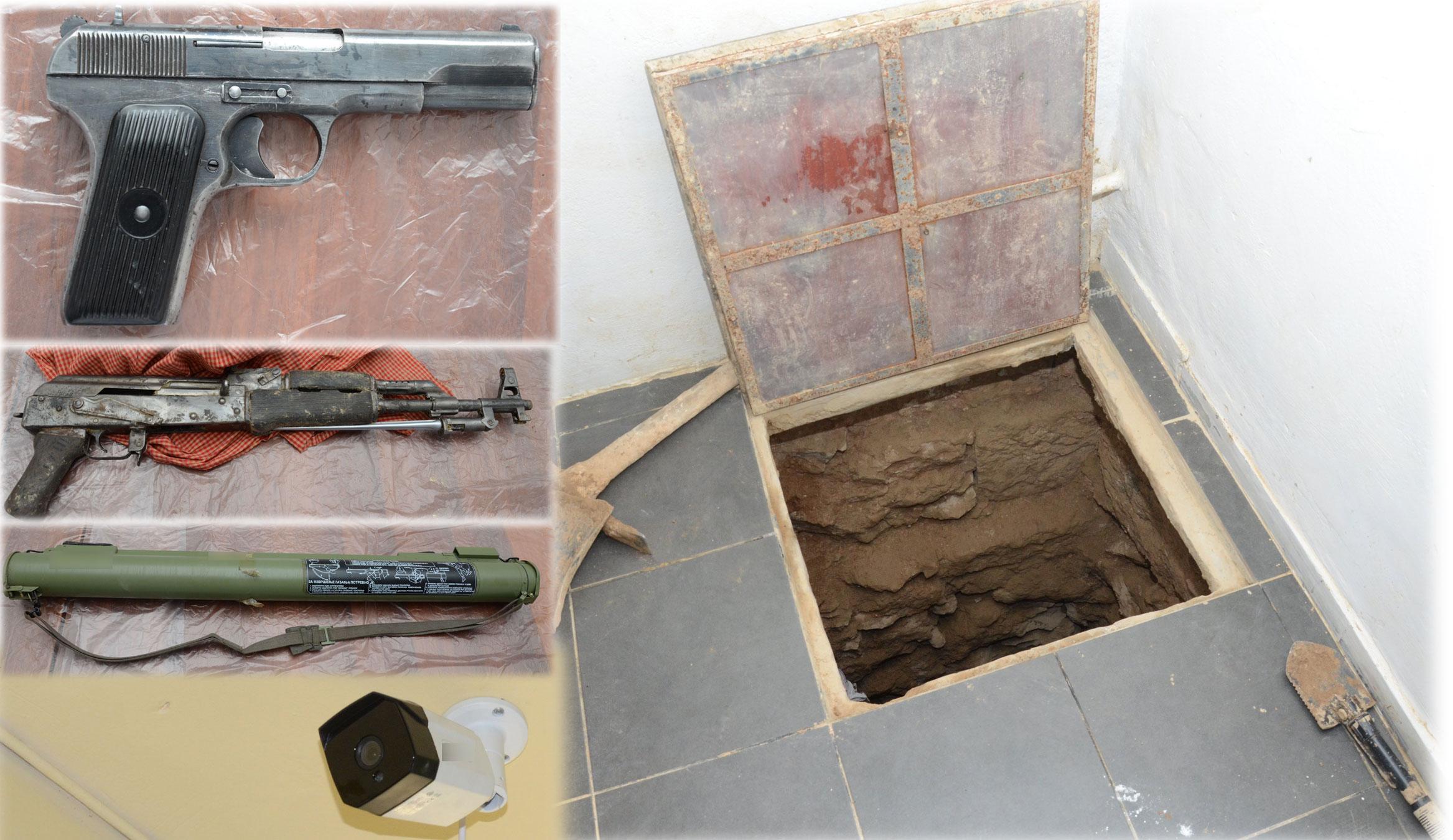 """Τι βρέθηκε στο τούνελ των 47 μέτρων στα Σεπόλια! Ο """"παλιός γνώριμος"""" και τα όπλα"""