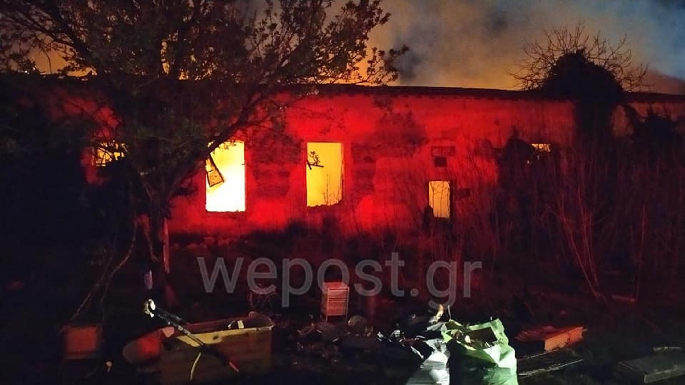 Μεγάλη φωτιά στην Καλαμαριά! Στις φλόγες το στρατόπεδο Κόδρα (pics, video)