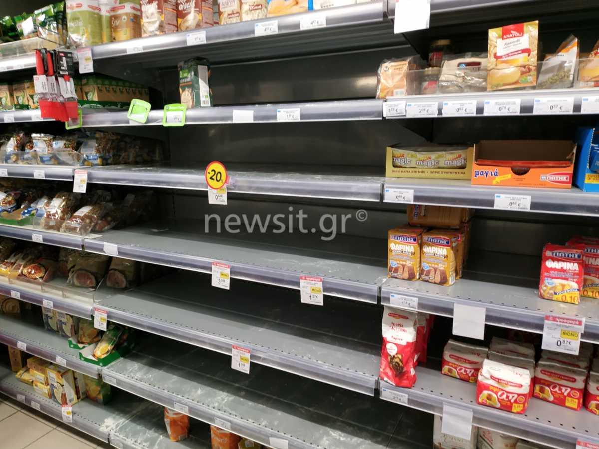 Σε πανικό οι Έλληνες λόγω κορονοϊού: Αδειάζουν τα ράφια και στα σούπερ μάρκετ της Αθήνας - Δείτε εικόνες.....