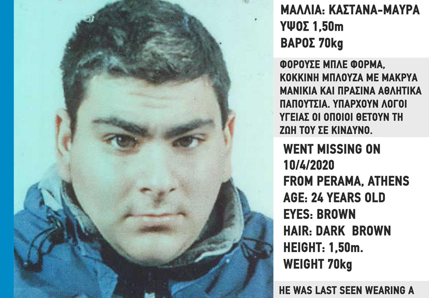 Αγωνία για την τύχη 24χρονου που εξαφανίστηκε από το Πέραμα