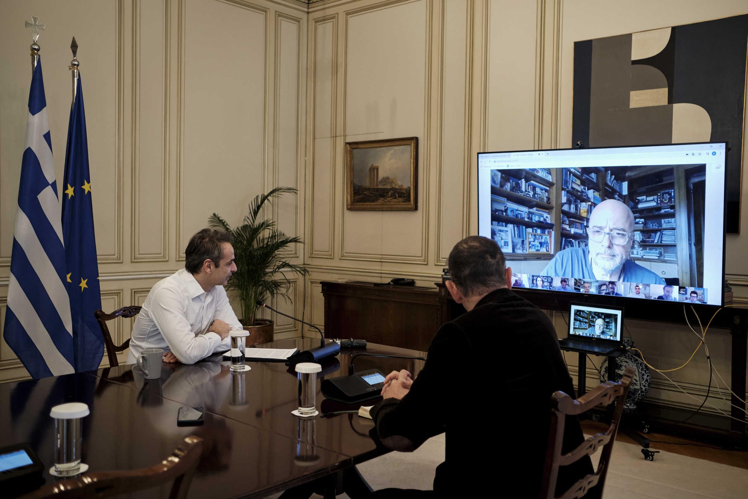 """Κορονοϊός: Τηλεδιάσκεψη Μητσοτάκη με το Ίδρυμα Σταύρος Νιάρχος για τη δωρεά """"μαμούθ"""" – Πώς θα αξιοποιηθεί"""